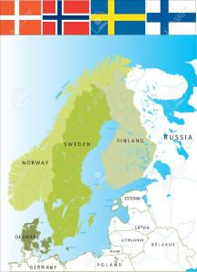 3102888-Nordic-countries-of-Scandinavies-Scandinavian-Peninsula--Stock-Vector