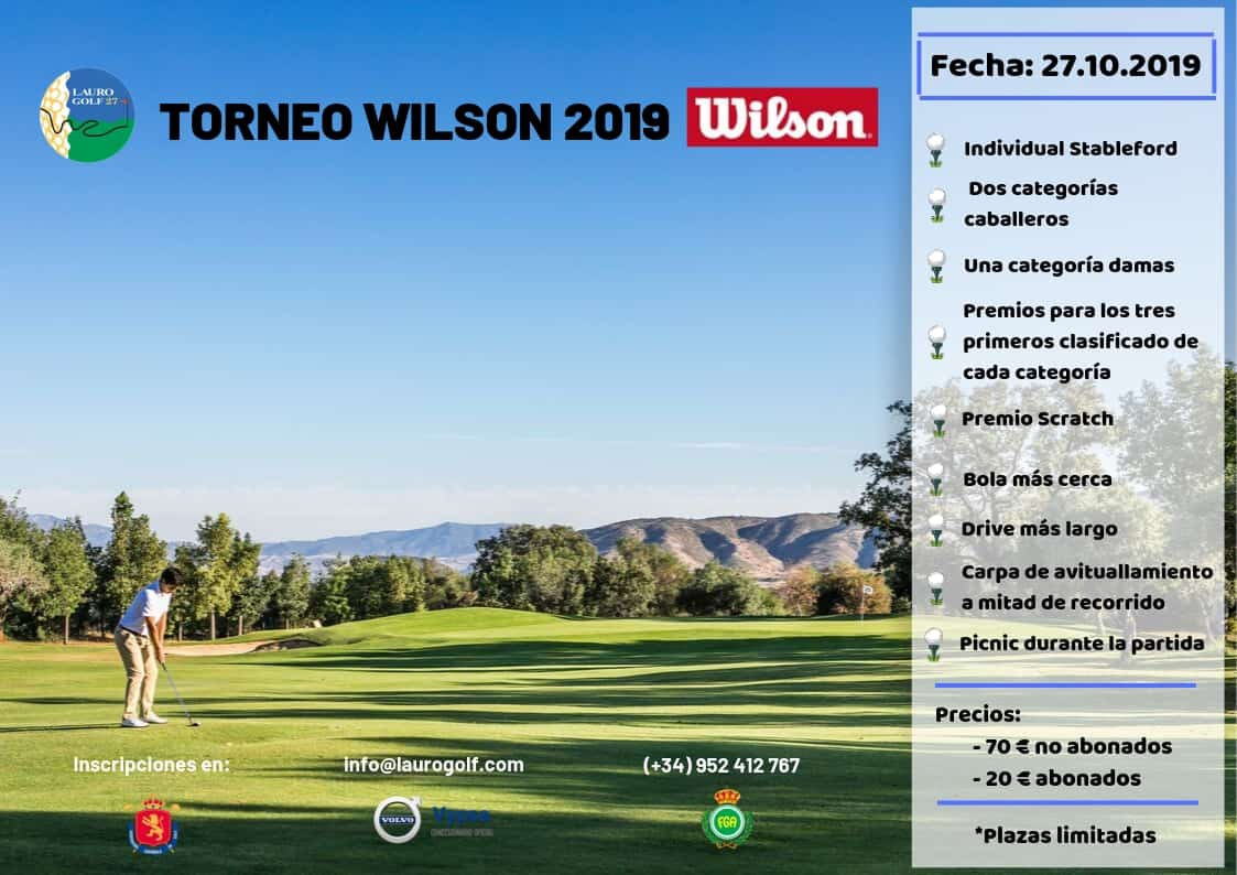 Cartel I Torneo Wilson en Lauro Golf Resort