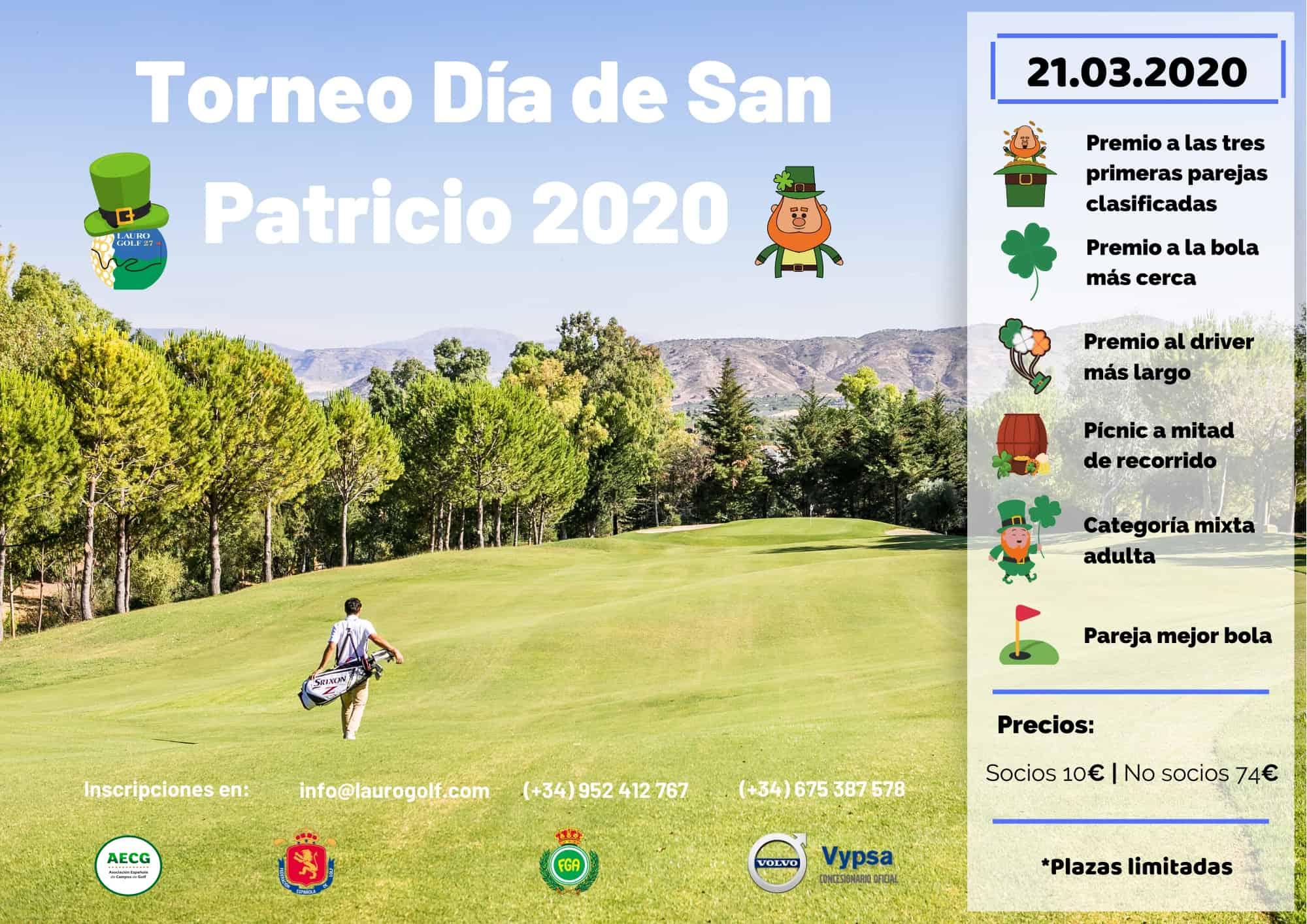 Torneo Día de San Patricio 2020 en Lauro Golf Resort, Costa del Sol, Málaga