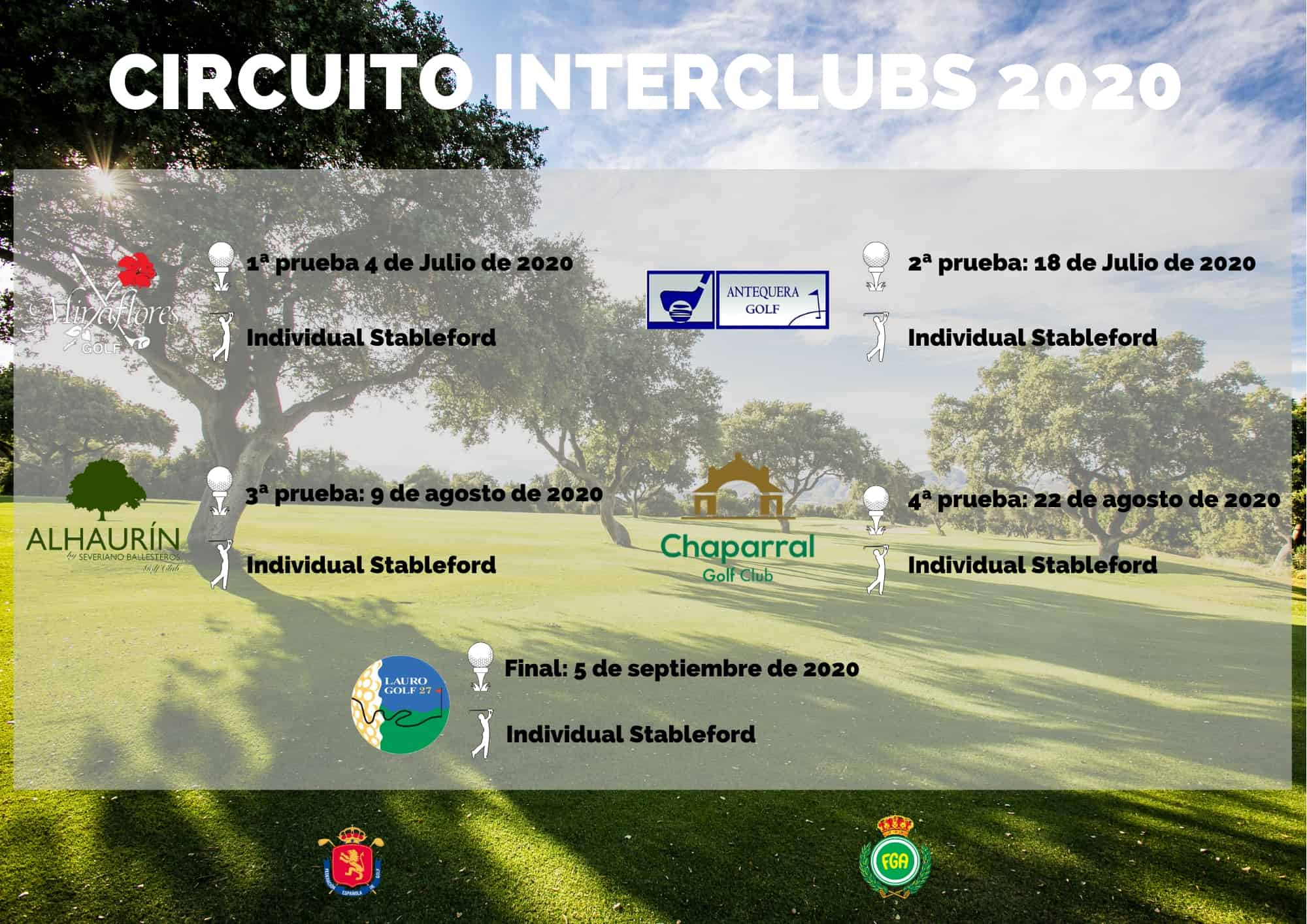 Cartel Circuito Interclubs Málaga Occidental 2020